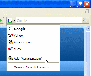 Firefox 2.0 Search bar